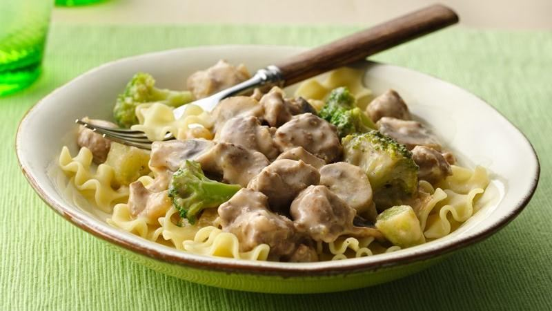 Creamy Turkey Mushroom Stroganoff recipe from Betty Crocker
