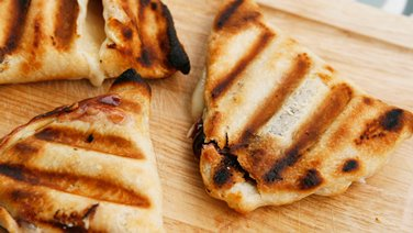 Grilled Raspberry Cheesecake Turnovers