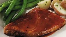 Ham Steak with Apple Barbecue Sauce Recipe