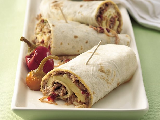 Slow Cooker Italian Turkey Wraps