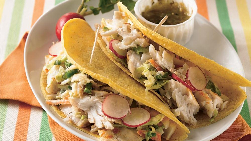 Quick Grilled Fish Tacos recipe from Pillsbury.com
