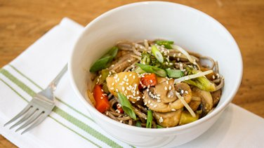 Teriyaki Pork Soba Noodle Bowl