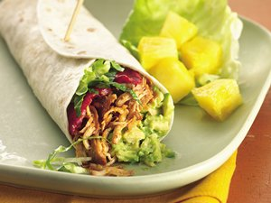Slow-Cooker Turkey, Bacon and Avocado Wraps