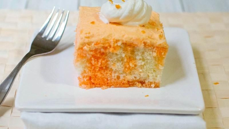 Orange Cream Poke Cake recipe from Betty Crocker