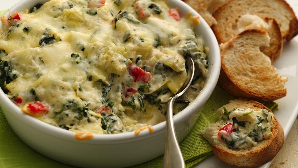 Baked Spinach Artichoke Dip recipe from Pillsbury.com