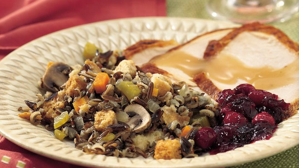 Wild Rice Stuffing recipe from Pillsbury.com