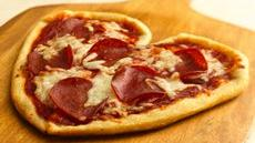 Valentine Pizzas Recipe