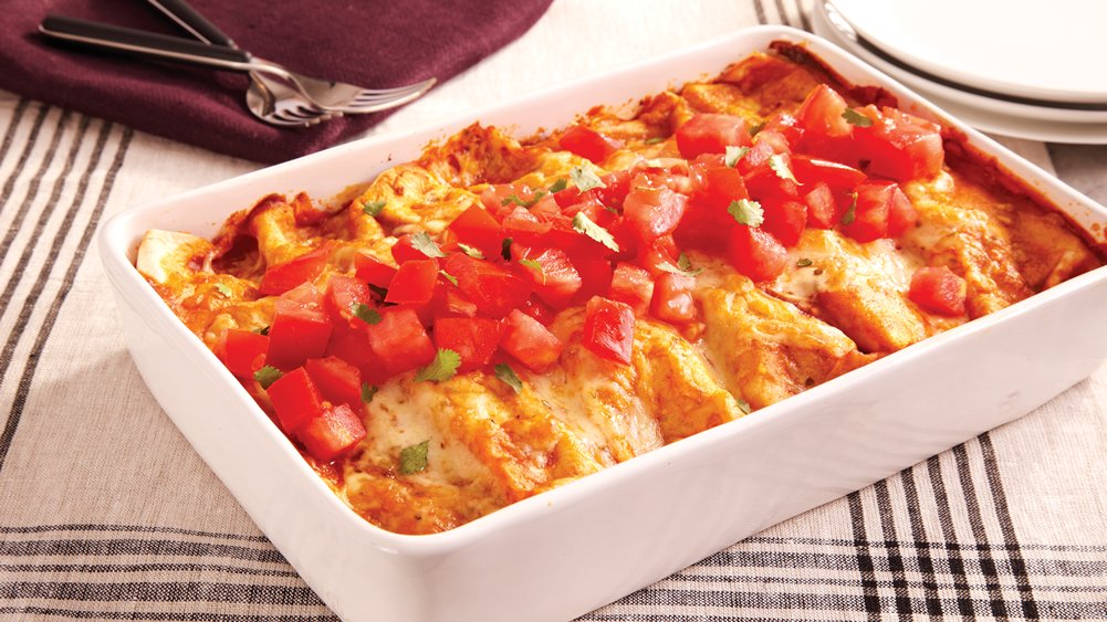 Bean and Chicken Enchiladas