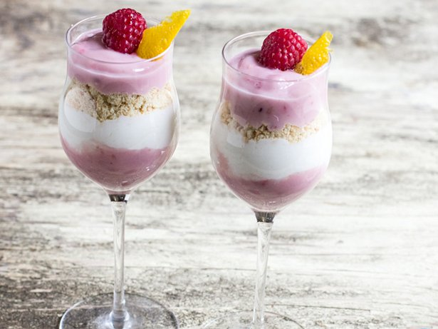 Raspberry Lemon Dessert Yogurt Parfaits