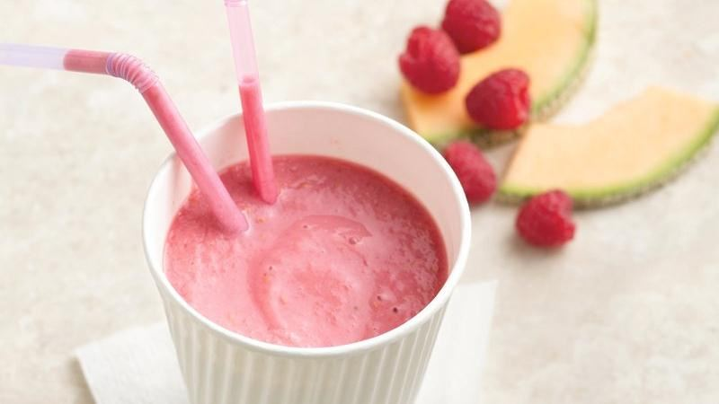 Melon-Raspberry Smoothies