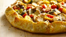 Mediterranean Chicken Vegetable Galette Recipe