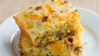 Cornbread with Chiles and Bacon