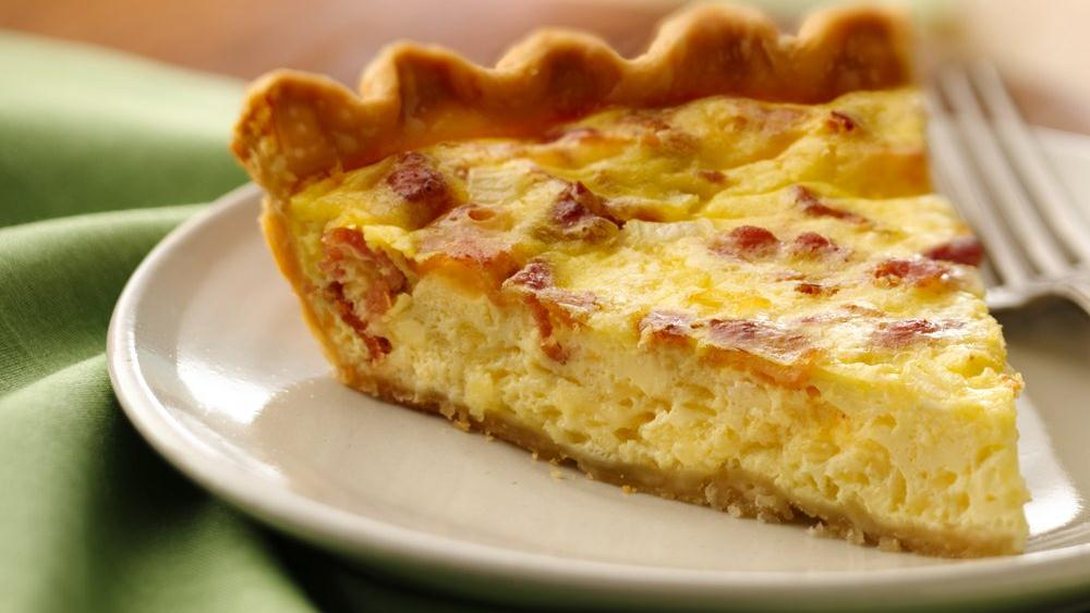 Bacon and Cheese Quiche recipe from Pillsbury.com