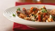 Mediterranean Shrimp with Bulgur Recipe