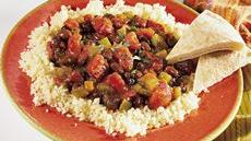 Spicy Black Beans with Couscous Recipe