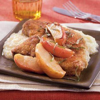 Pork Chops with Apples and Stuffing recipe from Betty Crocker