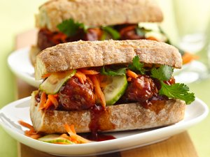 Beer Mi Asian Meatball Subs