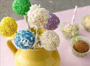 Piña Colada Cake Pops