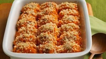 Twice-Baked Sweet Potato Casserole with Bacon