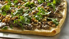 Steak Flatbread with Walnuts and Arugula Recipe