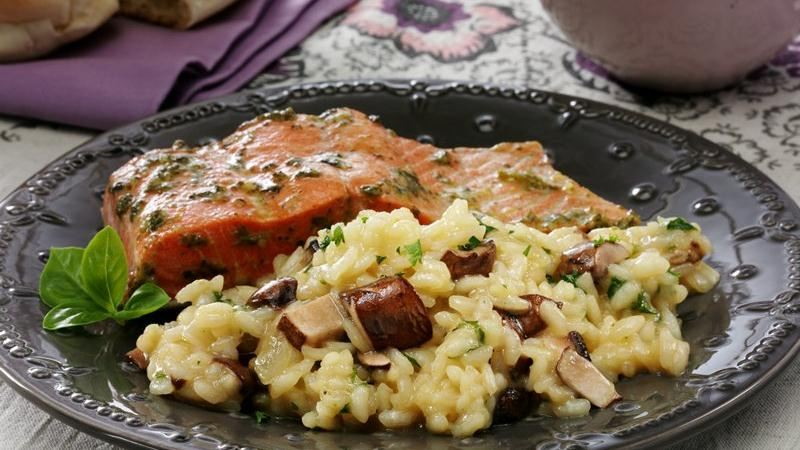 Easy Baked Mushroom & Onion Risotto