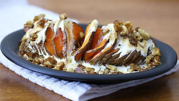 Hasselback Sweet Potatoes recipe - from Tablespoon!