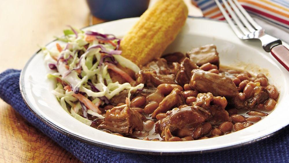 Slow-Cooker Barbecue Beans and Beef