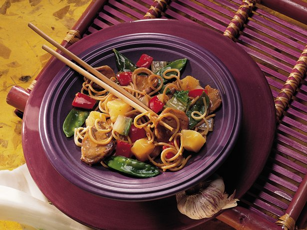 Chinese Pork and Pasta