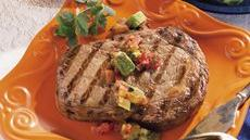 Rib-Eye Steaks with Avocado Salsa Recipe
