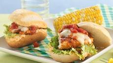 Fiesta Grilled Chicken Sandwiches with Chipotle Mayonnaise Recipe