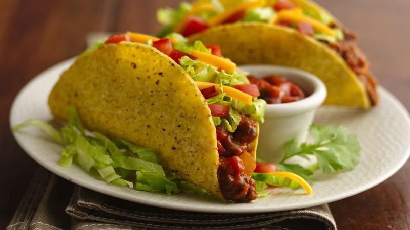 Easy Beef Tacos recipe from Betty Crocker