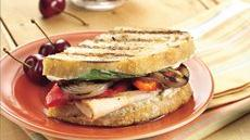 Grilled Veggie-Turkey Sandwiches Recipe