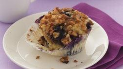 Streusel-topped Blueberry-Lemon Muffins