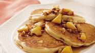 Praline Peach Pancakes