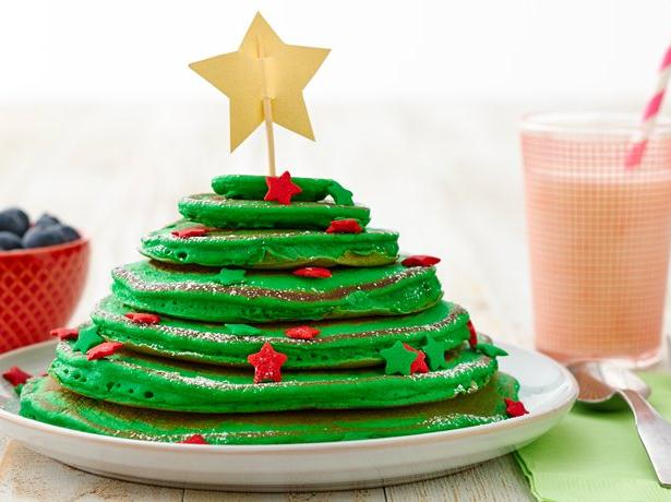 Christmas Tree Stack Pancakes