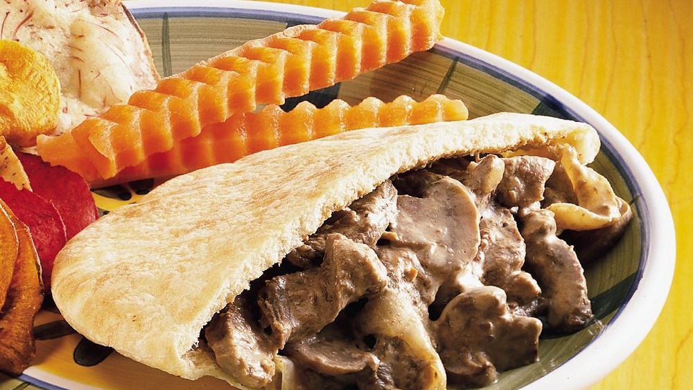 Creamy Beef Pitas