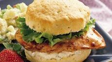 Grands! Buffalo Chicken Sandwiches Recipe