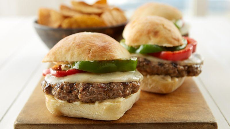 Meatball Provolone Burgers with Garlic Parmesan Aioli