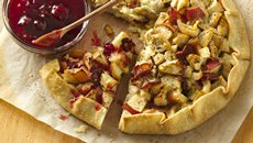 Chicken Blue Cheese Crostata with Spicy Tart Cherry Sauce Recipe