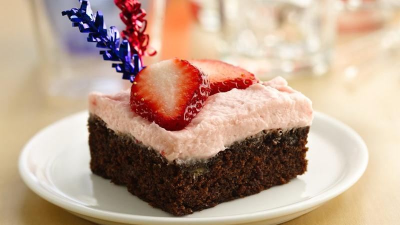 Strawberry-Frosted Banana Brownies