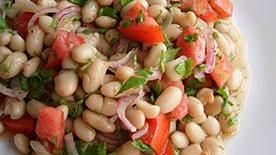 Tangy White Beans and Tomato Salad