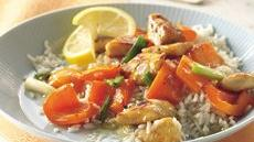 Glazed Lemon Chicken and Rice Recipe
