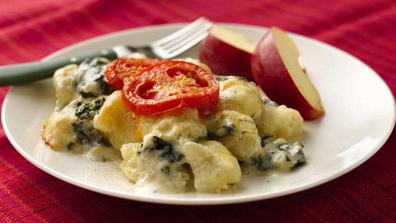 Cheesy Gnocchi Florentine