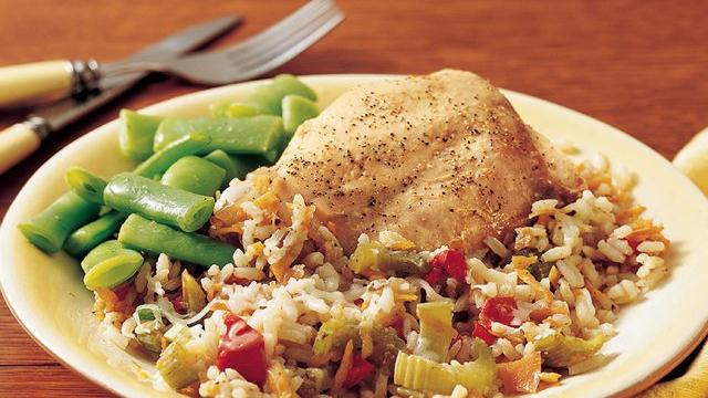 Italian Turkey-Rice Dinner