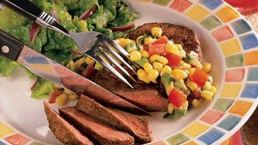 South-of-the-Border Steak with Corn Relish