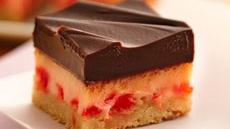 Choco-Cherry Cheesecake Bars Recipe