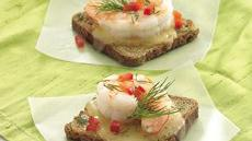 Dill Havarti-Shrimp Appetizers Recipe