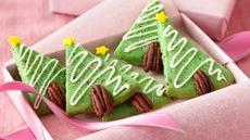 Pecan-Shortbread Trees Recipe