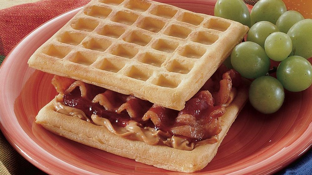 Peanut Butter and Jam-Filled Waffles recipe from Pillsbury.com