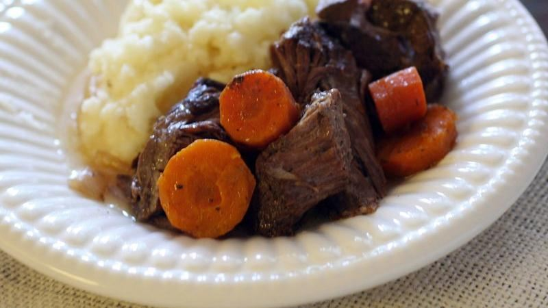 Apple Cider Pot Roast with Vegetables